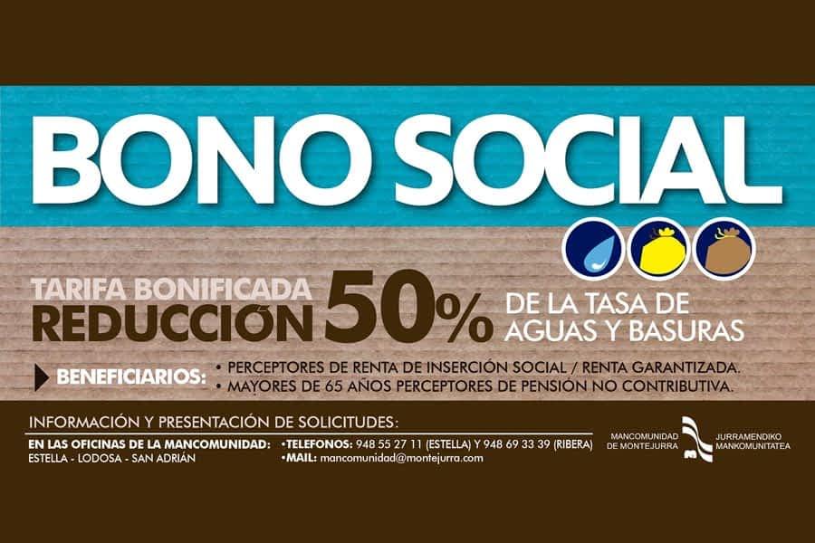 La Mancomunidad de Montejurra informa sobre el 'Bono Social'  en la tasa de Aguas y Basuras