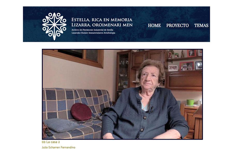 El patrimonio inmaterial de Estella-Lizarra, en una web