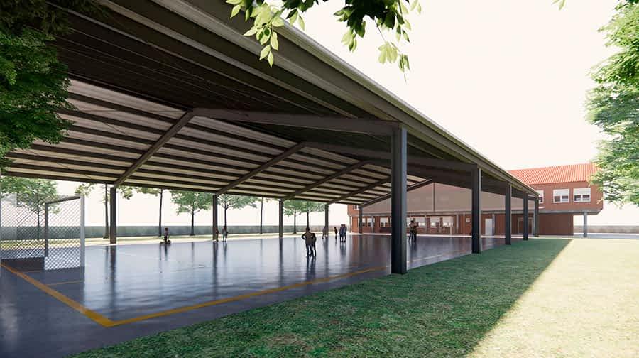 Villatuerta cubrirá el patio del colegio para uso de alumnos y vecinos
