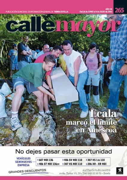 CALLE MAYOR 265 – ECALA MARCÓ EL LÍMITE EN AMÉSCOA