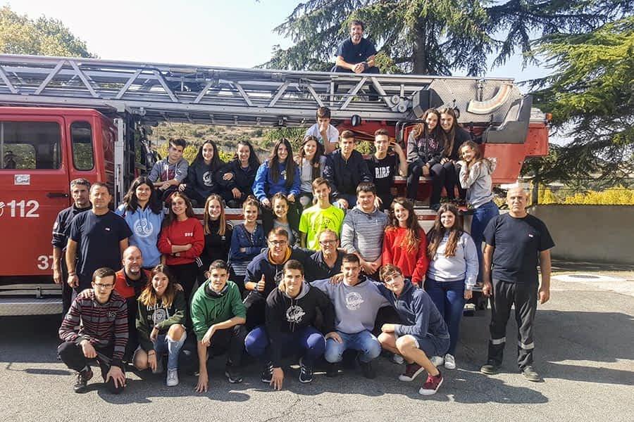 El alumnado de Bachiller del I.E.S. Tierra Estella visitó el Parque de Bomberos