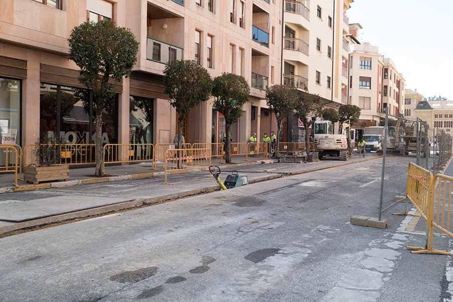 Comienzan las obras de peatonalización de la calle San Andrés