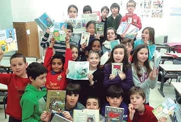 Elecciones literarias en Lizarra ikastola con motivo del Día Internacional del Libro Infantil y Juvenil