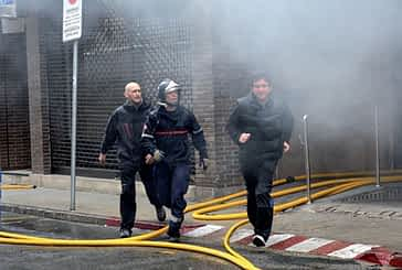 El incendio de una caldera obliga a desalojar un bloque  de diez viviendas