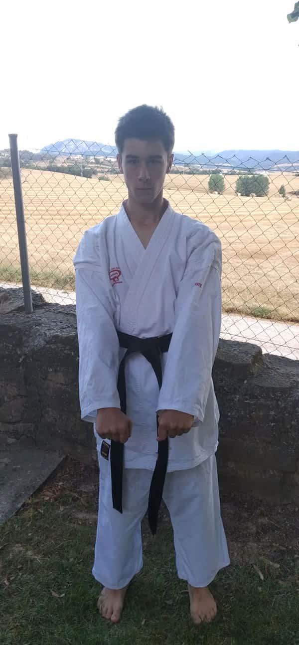 Eneko Andueza del Campo, cinturón negro