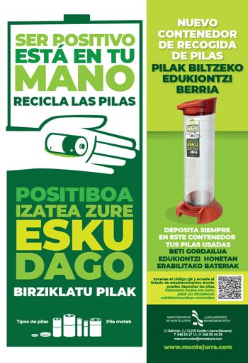 Nuevo contenedor de recogida de pilas. Mancomunidad de Montejurra