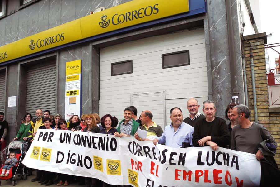 El cien por cien de la plantilla secundaba en Estella la huelga general de Correos