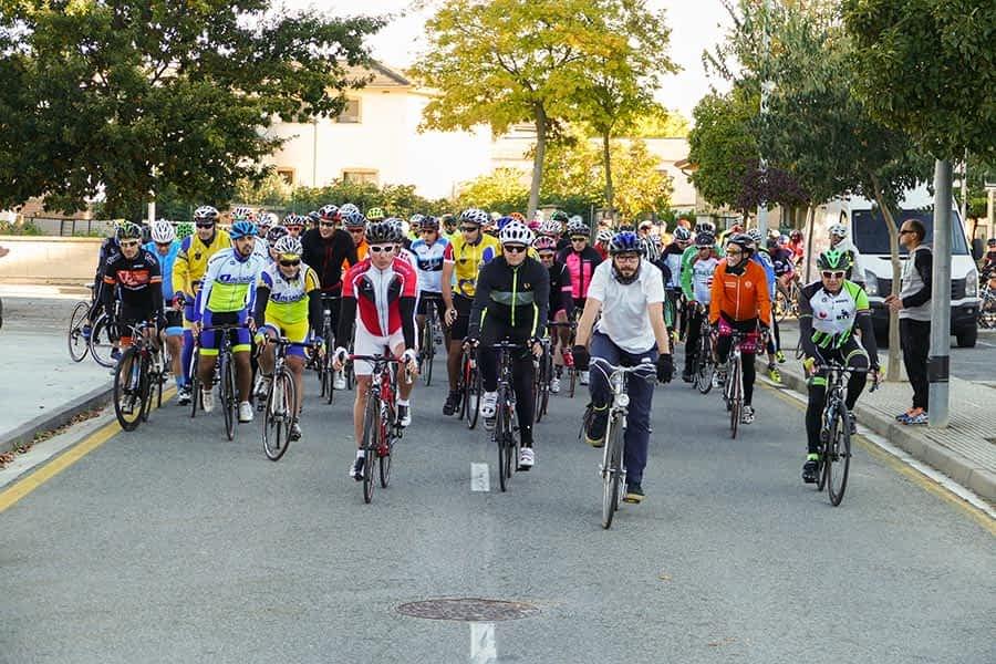 Villatuerta acogió la Marcha Bicicleta Blanca