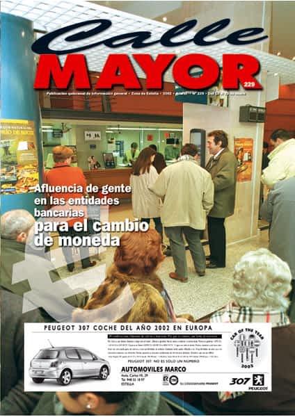 CALLE MAYOR 229 – AFLUENCIA DE GENTE EN LAS ENTIDADES BANCARIAS PARA EL CAMBIO DE MONEDA