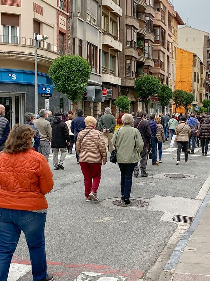 Manifestación en Estella en defensa de un centro de salud y una atención primaria de calidad