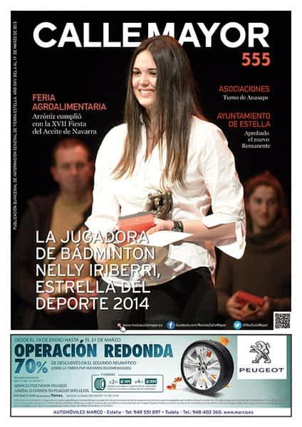 CALLE MAYOR 555 – LA JUGADORA DE BÁDMINTON NELLY IRIBERRI, ESTRELLA DEL DEPORTE 2014