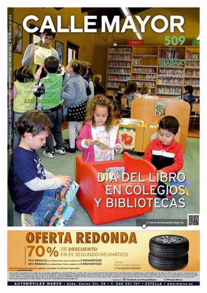 CALLE MAYOR 509 – DÍA DEL LIBRO EN COLEGIOS Y BIBLIOTECAS