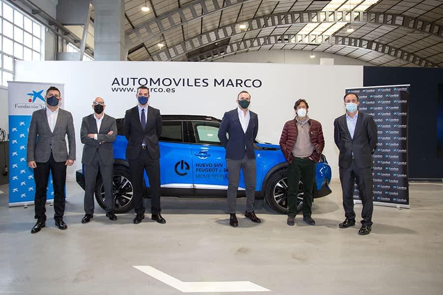 Compromiso de Acción Social CaixaBank y Automóviles Marco con Amimet y Cáritas Estella