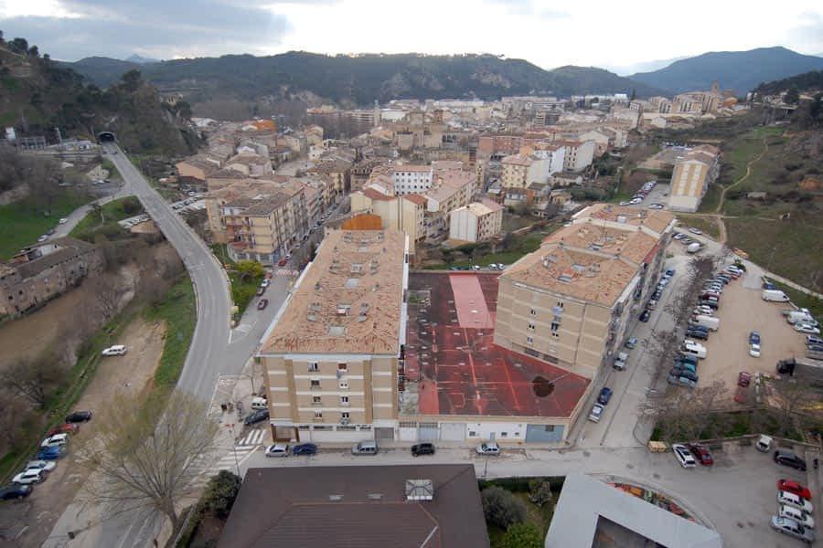 Vista aérea de Estella. Archivo.