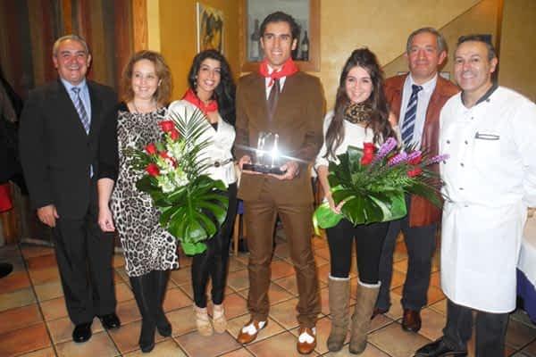 El torero José Manuel Sandín recogió el premio Triunfador  de la Feria