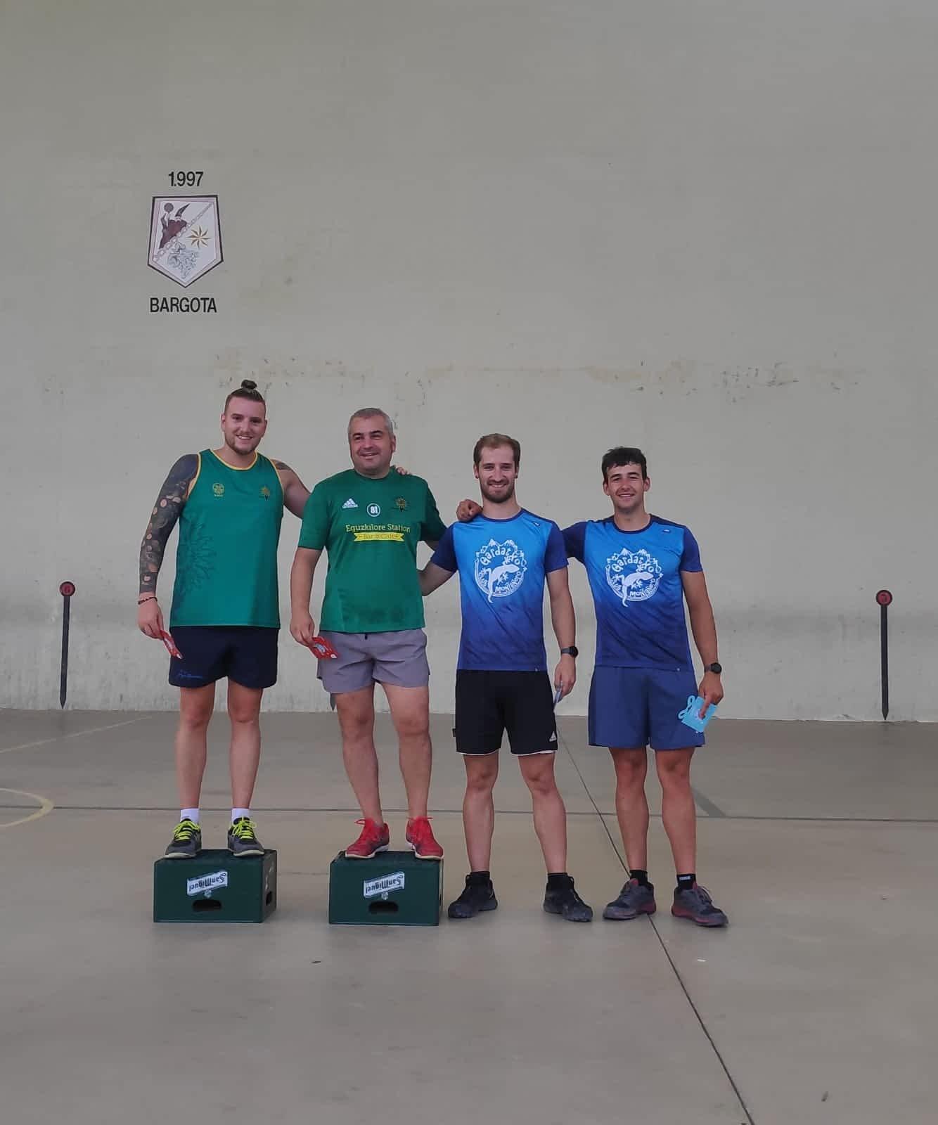 Lauzuriaga y Galán, ganadores en el campeonato de frontenis de Bargota