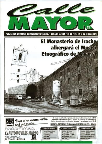 CALLE MAYOR 062 – EL MONASTERIO DE IRACHE ALBERGARÁ EL MUSEO ETNOGRÁFICO DE NAVARRA