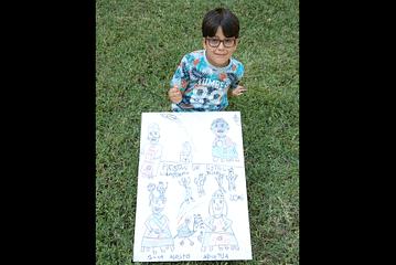 Mikel Rada Miranda - Cartel categoía infantil - Un inicio festivo con todos sus elementos