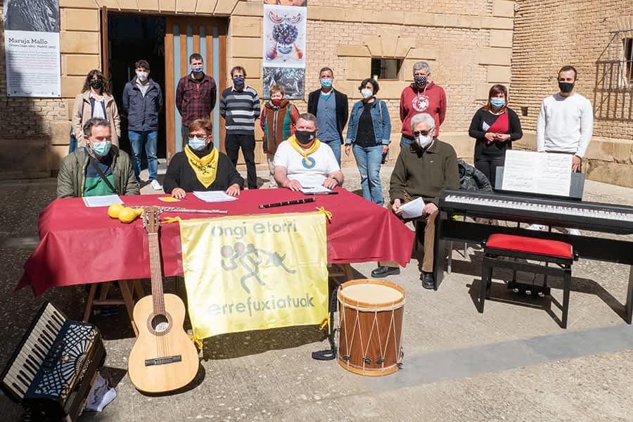 Colecta de instrumentos musicales en Estella para niños refugiados en el Kurdistán iraquí