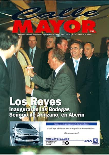 CALLE MAYOR 233 – LOS REYES INAUGURARON LAS BODEGAS SEÑORÍO DE ARÍNZANO, EN ABERIN