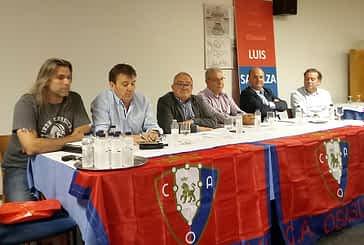 La junta directiva de Osasuna, en Estella