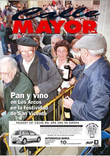 CALLE MAYOR 230 – PAN Y VINO EN LOS ARCOS PARA LA FESTIVIDAD DE SAN VICENTE