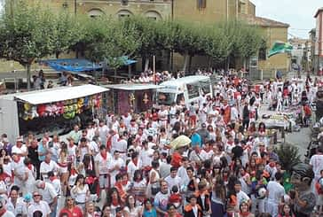 El Idoya y la afición celebraron el inicio de las fiestas de Oteiza