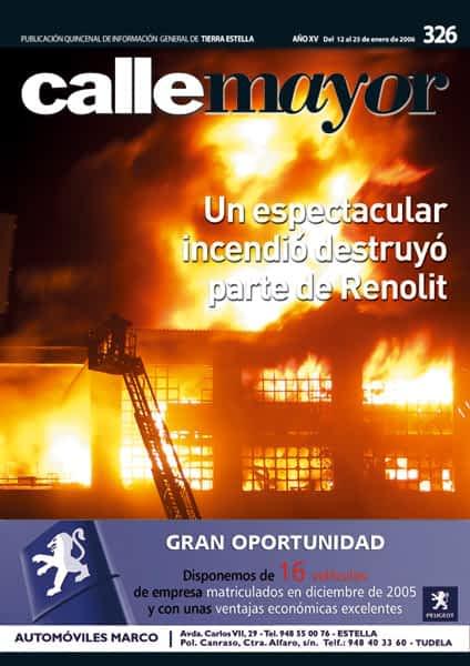 CALLE MAYOR 326 – UN ESPECTACULAR INCENDIO DESTRUYÓ PARTE DE RENOLIT