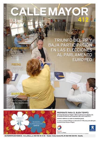 CALLE MAYOR 412 – TRIUNFO DEL PP Y BAJA PARTICIPÀCIÓN EN LAS ELECCIONES AL PARLAMENTO EUROPEO