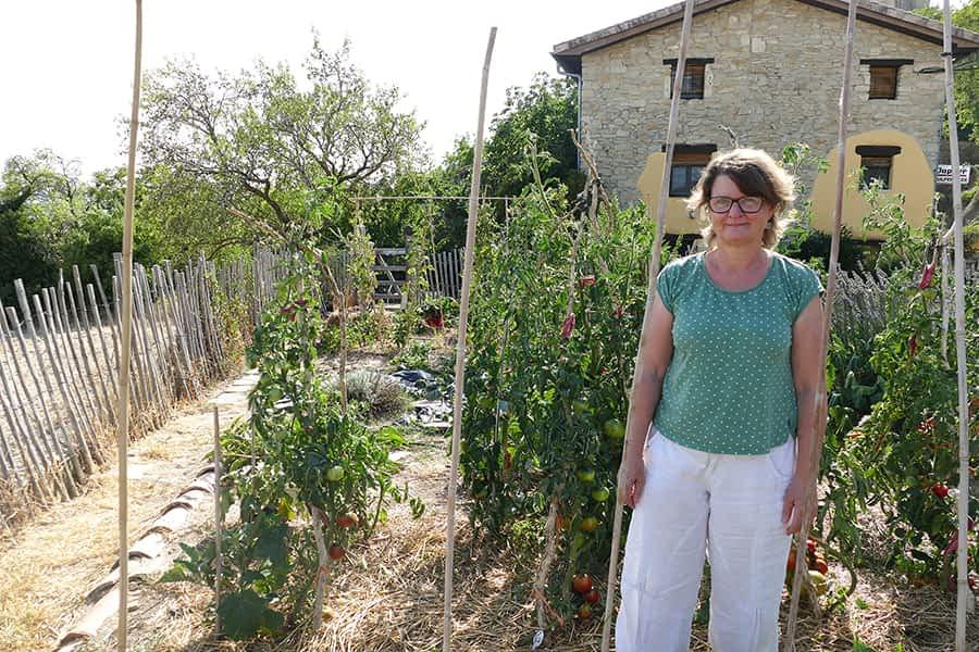 """Hilde Notebaert. 58 años. Azcona. """"Lo que más sentido tiene en la vida es hacer tu comida"""""""