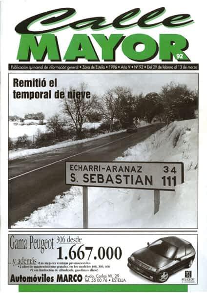 CALLE MAYOR 092 – REMITIÓ EL TEMPORAL DE NIEVE