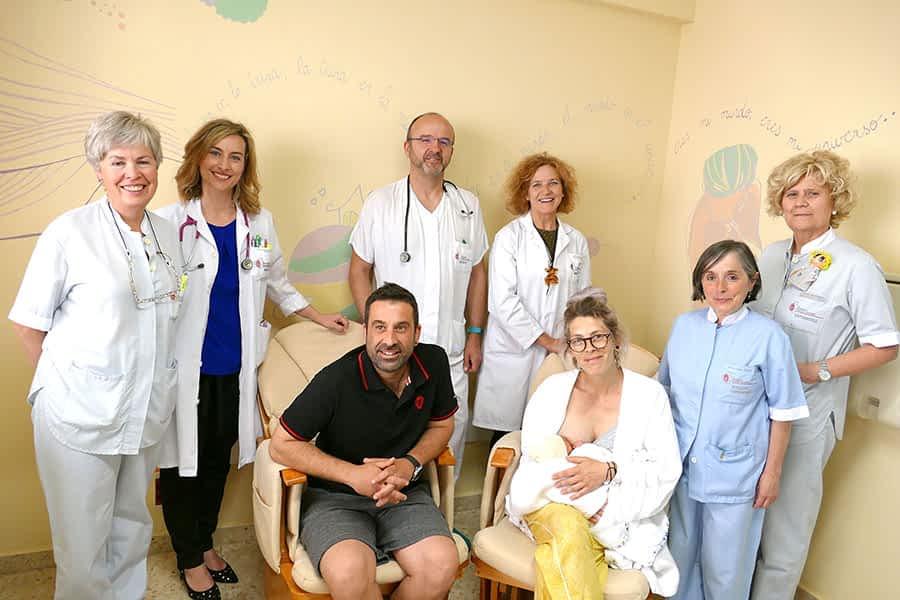 El Hospital García Orcoyen, reconocido por sus prácticas de apoyo a la lactancia