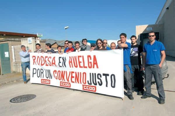 Los trabajadores de Rodesa reivindican un nuevo convenio