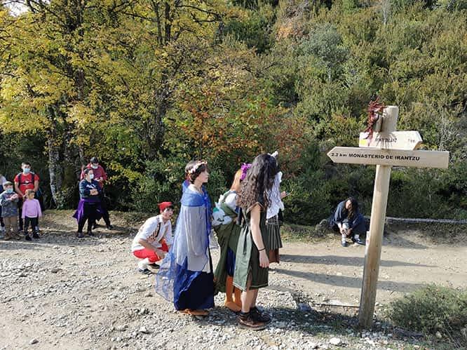 2.700 personas siguieron el programa de otoño de Tierras de Iranzu