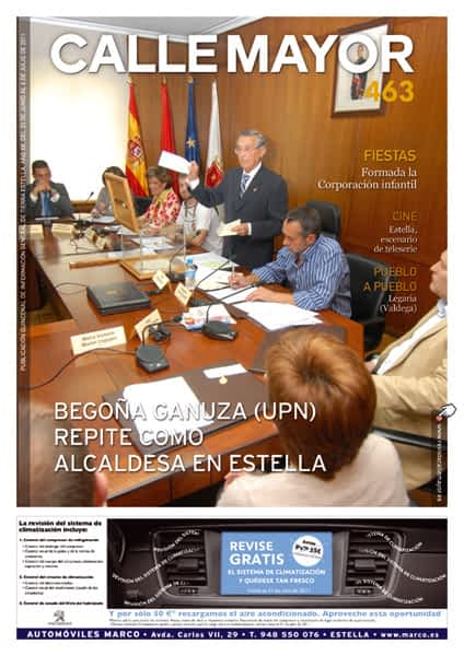 CALLE MAYOR 463 – BEGOÑA GANUZA (UPN) REPITE COMO ALCALDESA DE ESTELLA