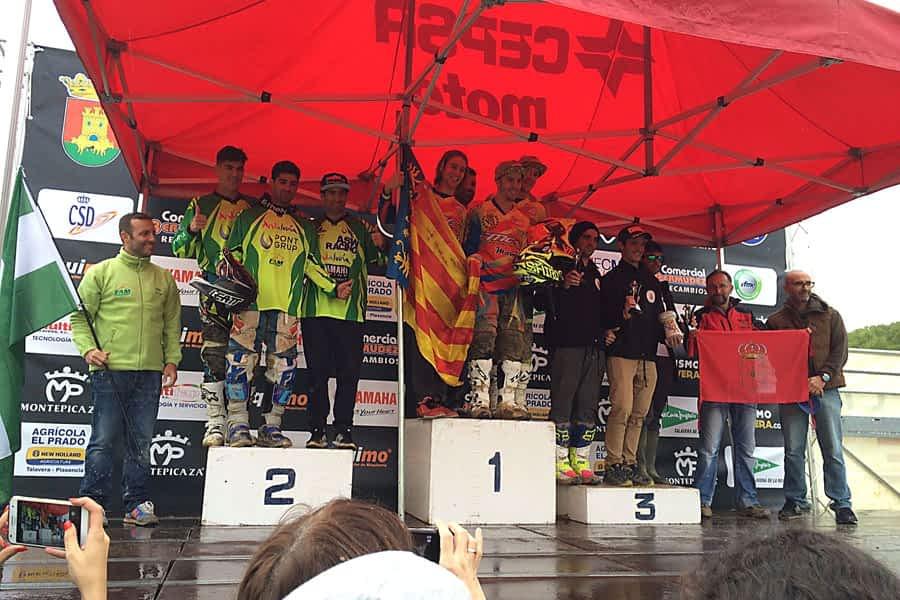 Podio histórico para Navarra en el Campeonato de España por Autonomías de Motociclismo