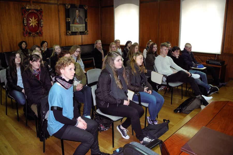Alumnos de Estella participan en un intercambio con jóvenes daneses