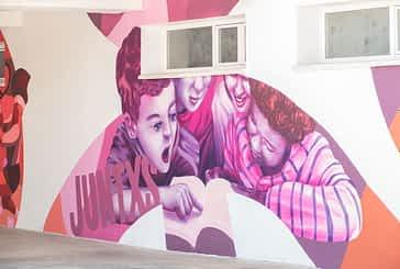 La pintura mural dará la bienvenida al alumnado de Remontival