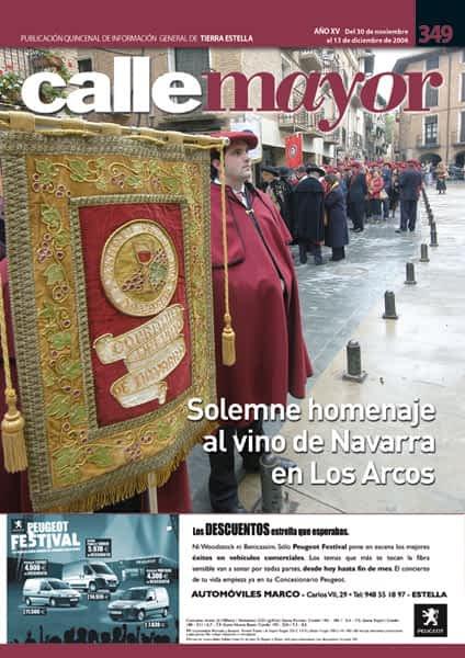 CALLE MAYOR 349 – SOLEMNE HOMENAJE AL VINO DE NAVARRA EN LOS ARCOS