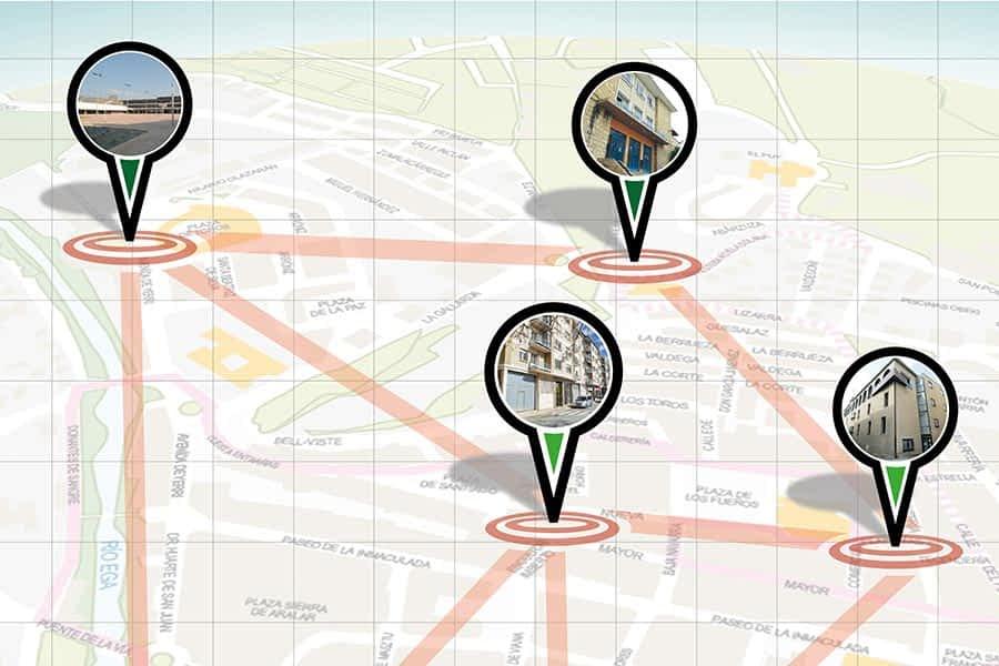 Nuevo mapa de espacios para las asociaciones de Estella