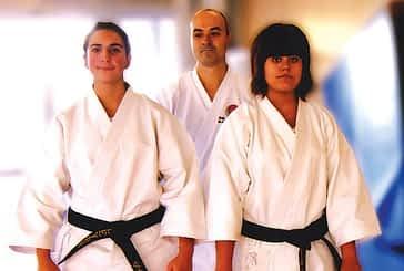 Tres cinturones negros del gimnasio El Puy