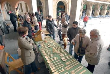 Talleres de artesanos en la plaza de los Fueros