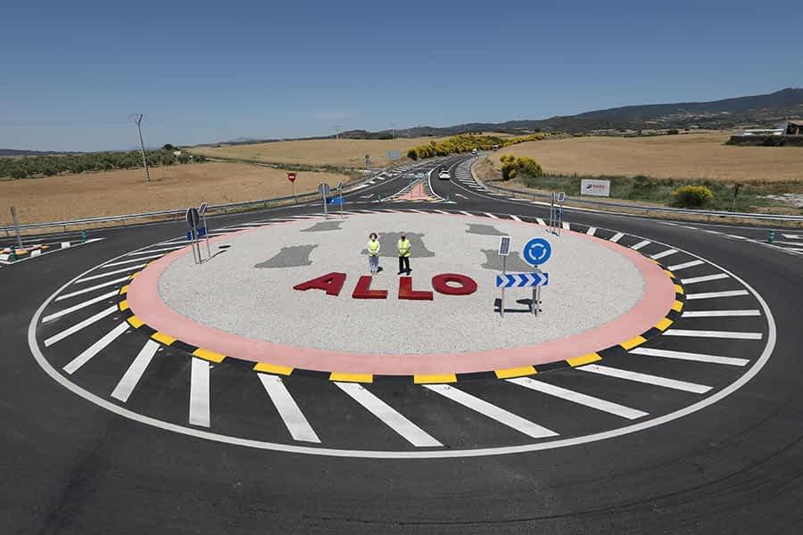 Abiertas al tráfico las dos nuevas rotondas de la Variante de Allo