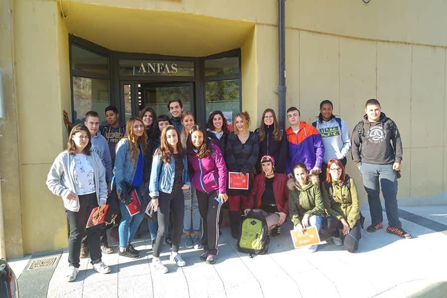 Alumnos del Politécnico visitaron Anfas y Cruz Roja