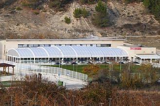 Vista aérea de la nueva cubierta en las instalaciones de Ardantze.