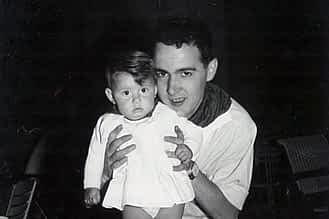 Fiestas de 1966. Javier García con Ana Solano.