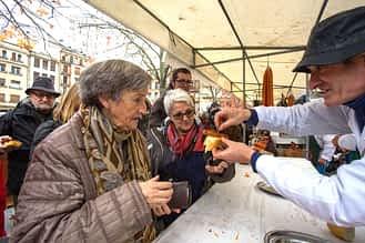 La txistorra, un clásico de Ferias.