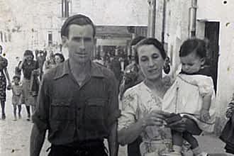 Fiestas de 1940. Francisco Álvarez 'El Pirulí' y Consuelo Arbeloa.