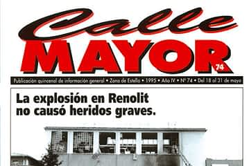 CALLE MAYOR 074 - LA EXPLOSIÓN EN RENOLIT NO CAUSÓ HERIDOS GRAVES.
