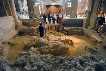 Las excavaciones en San Pedro sacan a la luz la cripta de los Mariscales